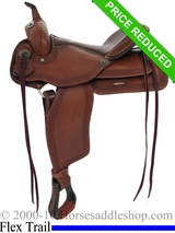 "16"" Alamo Flex Tree Greek Border Tooled Western Trail Saddle 1060"