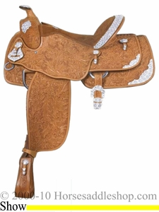 "16"" Alamo Oakleaf Tooled Show Saddle 1003"