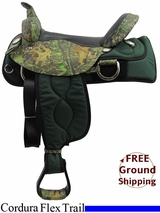 "PRICE REDUCED! 16"" American Saddlery 300 Cordura Flex Trail Saddle, Wide Tree, Floor Model usam3159 *Free Shipping*"