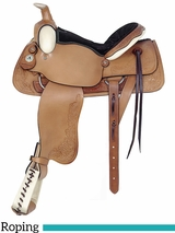 "16"" American Saddlery All Around Deluxe Roping Saddle 757"