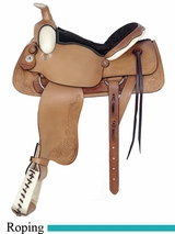 "16"" American Saddlery All Around Deluxe Roping Saddle am757"