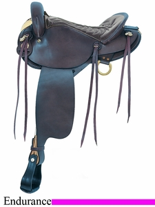 "16"" American Saddlery Black Endurance Saddle am806"