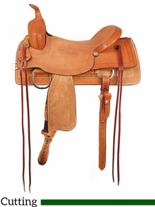 "** SALE ** 16"" American Saddlery Comanche Ranch Cutter Saddle 1187"