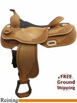 "16"" American Saddlery Mastercraft 9602 Pro Reining Saddle, Wide Tree, Floor Model usam3172 *Free Shipping*"