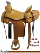 "PRICE REDUCED! 16"" American Saddlery MasterCraft Arizona 127 Ranch Saddle, Wide Tree, Floor Model usam3174 *Free Shipping*"