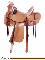 "16"" American Saddlery MasterCraft Arizona Rancher Saddle 127"