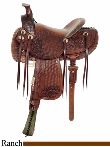 "16"" American Saddlery MasterCraft Top Hand Racher Saddle am128"