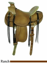 "16"" American Saddlery MasterCraft Triangle Border Wade Rancher Saddle 122"