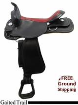 "PRICE REDUCED! 16"" American Saddlery Midnight 552 Gaited Trail Saddle, Floor Model usam3170 *Free Shipping*"