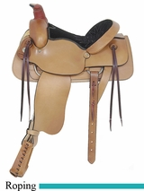 "16"" American Saddlery Plain All Around Roping Saddle am756"