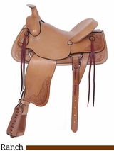 "16"" American Saddlery Rancher's All Around Saddle 748"