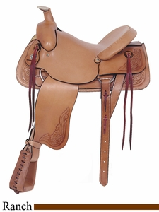 "16"" American Saddlery Rancher's All Around Saddle am748"