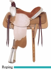 """16"""" American Saddlery Rodeo All Around Roping Saddle am759"""