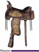 "** SALE ** 16"" American Saddlery The High Point Glo Tan Antique Pleasure Saddle 1534"