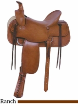 "16"" American Saddlery Tucson Rancher Saddle 763"