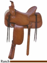 "16"" American Saddlery Tucson Rancher Saddle am763"