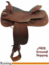 "16"" Big Horn 863 Reining Saddle, Wide Tree, Demo Saddle usbh3160 *Free Shipping*"