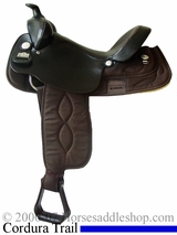 "** SALE **16"" Big Horn Brown Cordura Gaited Horse Saddle High Withers 257"