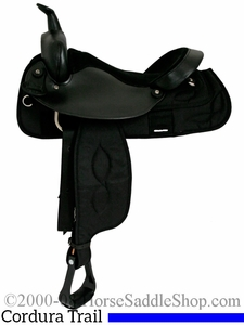 "16"" 17"" Big Horn Cordura Suede Seat Trail Saddle 167 267"