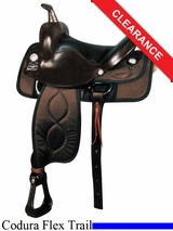 "SOLD 2014/10/15 $559.20 17"" Big Horn Cushion Ralide Flexible Tree Saddle 298"