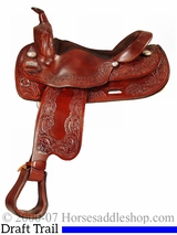 "16"" Big Horn Draft Cross Horse Saddle 1680"