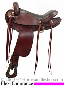 "16"" Big Horn Endurance Saddle with QH Flex Bars bh 805"