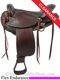 "SOLD 2/18/14 $782.40 16"" Big Horn Flex Endurance Saddle 805"