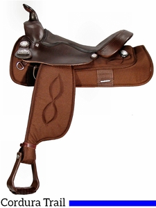 "** SALE ** 16"" Big Horn Haflinger Cordura Saddle 295"