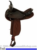 "16"" Big Horn Round Skirt Barrel Front Trail Saddle 264"