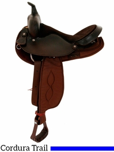 "** SALE ** 16"" Big Horn Round Skirt Barrel Front Trail Saddle 264"