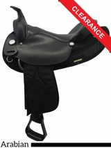 "15.5"" Big Horn Synthetic Arabian Saddle 115 CLEARANCE"