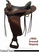 """PRICE REDUCED - New 16"""" Big Horn Western 1684 Flex Gaited Trail Saddle usbh3134 *Free Shipping*"""