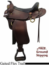 "PRICE REDUCED! 16"" Big Horn Western 1686 Gaited Flex Trail Saddle, Wide Tree, Floor Model usbh3164 *Free Shipping*"