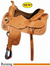 "16"" Big Horn Working Cowhorse All Around Reining Saddle FQH 860"