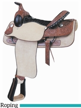 """16"""" Billy Cook Justin Roper Roughout Saddle 291638R"""
