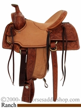 "16"" Billy Cook Halfbreed Nebraska Rancher Saddle 2825"