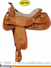 """DISCONTINUED 16"""" Billy Cook Reining Show Saddle 6025"""