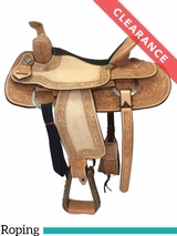 "16"" Billy Cook Texas Hold Em Medium Roping Saddle 291784 CLEARANCE"
