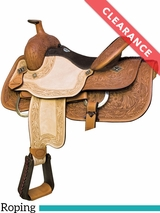 "16"" Billy Cook Texas Hold Em Roping Saddle 291784 CLEARANCE"