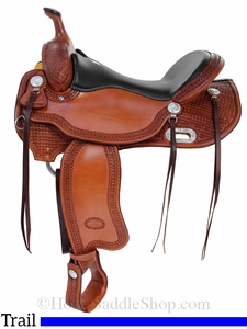 """15.5"""" 16"""" Billy Cook Trail Saddle 1855"""