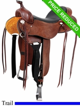 "16"" Cashel Roughout Trail Saddle chCT-R"