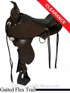 "SOLD 2014/06/16 $1575 16"" Circle Y Alabama Flex2 Trail Gaiter Saddle, wide tree 1581"