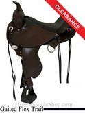 "16"" Circle Y Alabama Flex2 Trail Gaiter Saddle, wide tree 1581"