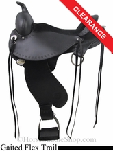 "SOLD 2014/07/02 $1575 16"" Circle Y Alabama Flex2 Trail Gaiter Saddle, wide tree 1581"