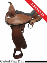 "SOLD 2016/03/15  15"" Circle Y Arkansas Flex2 Trail Gaiter Saddle 1587 CLEARANCE"