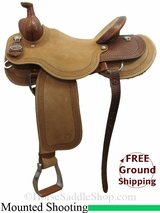 "16"" Circle Y Dan Byrd Super Shooter 2721 Mounted Shooting Saddle, Wide Tree, Floor Model uscy3039 *Free Shipping*"