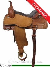"""SOLD 2014/07/15 $1695 16"""" Circle Y Xtreme Performance Deep Cut Cutter Saddle 1461"""
