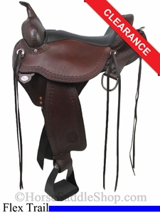 "SOLD 2014/09/09 $1529.10 16"" Circle Y Flagstaff Flex2 Trail Saddle 1571"