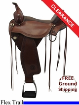 "16"" Circle Y Flagstaff Flex2 Wide Trail Saddle 1571, Floor Model uscy3323 *Free Shipping*"