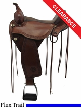 "PRICE REDUCED! 16"" Circle Y Flagstaff Flex2 Wide Trail Saddle 1571, Floor Model uscy3323 *Free Shipping*"